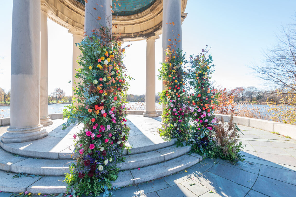 Gazebo at FDR Park with Flowers