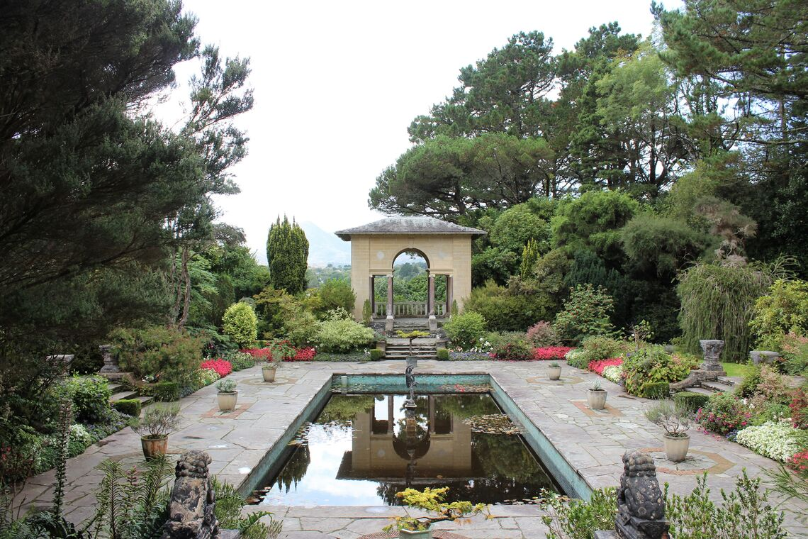 irish country house garden