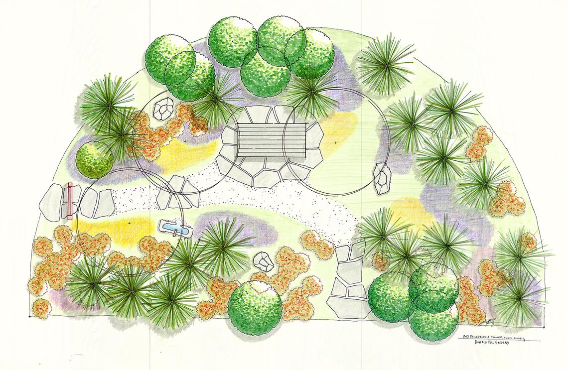 donald pell gardens sketch